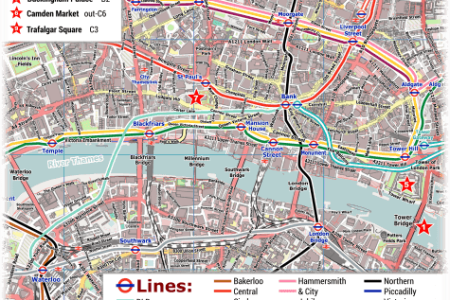 central london tube map