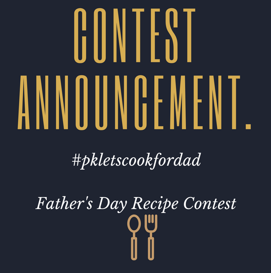 Father's Day Recipe Contest – #pkletscookfordad