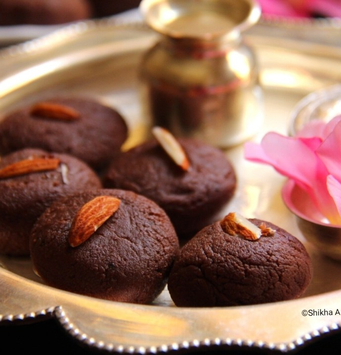 Diwali Treat- Chocolate Milk Peda Recipe by Shikha Bafna Gupta