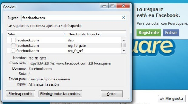 Elegí Foursquare para el ejemplo porque no tiene que cumplir esta ley española.