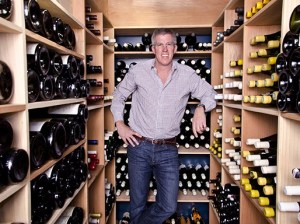 Charles Banks, founding partner of Santa Barbara-based Terroir Capital, in the wine cellar of his home in Montecito. Banks' investments include the Post Ranch Inn in Big Sur, vineyards in the Santa Ynez Valley and Napa wine country and wineries in South Africa. (Alex Drysdale / Business Times photo)