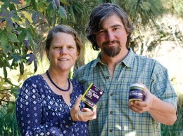 Caroline Duell and her husband, Ryan Rich, founded Elemental Herbs. A home kitchen startup, the Los Osos-based company now has nearly 1,500 retail accounts including national deals with Whole Foods and REI. (Alex Drysdale / Business Times photo)