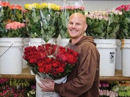 "Erik Van Wingerden of Myriad Flowers International in Carpinteria said flower growers are hoping a shift to ""buying local"" will boost Valentine's Day purchases this year. (Alex Drysdale / Business Times photo)"