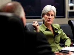 Kathleen Sebelius at an HHS meeting in 2009. (White House media photo)