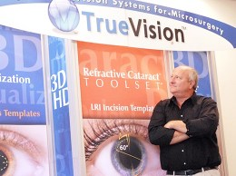 TrueVision 3D Surgical CEO Forrest Fleming said breakthroughs such as a recent retina surgery using the company's digital surgery technology are paving the way for steady growth at the Goleta-based firm. (Stephen Nellis / Business Times photo)