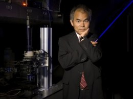 Shuji Nakamura became UC Santa Barbara's sixth Nobel Prize winner for the invention of the blue LED. (photo courtesy of UCSB)