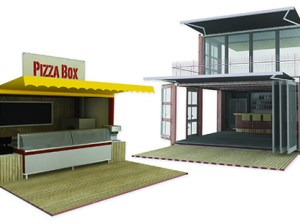 Repurposed containers could play a role in retail if these concept drawings find a market. (Courtesy image)