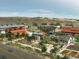 A rendering of PB Cos. Long-Bonetti Ranch project at full buildout. The project's first phase is set to break ground on Feb. 12. (Image courtesy PB Cos.)