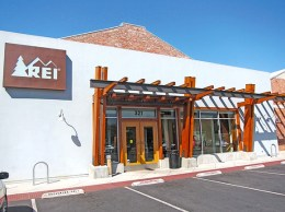 Outdoor gear retailer REI is the anchor tenant at the downtown Santa Barbara retail property that recently traded hands for about $22 million. (Courtesy image)