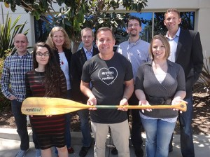 The RentLinx team at its San Diego office. The startup is AppFolio's first-ever property management acquisition. (Photo courtesy AppFolio)