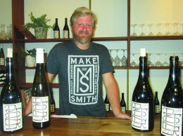 Winemaker David Potter at his Potek Winery in Santa Barbara.