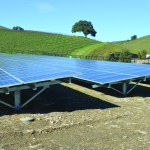 Niner Wine Estates uses a solar array to generate the electricity needed to power the vineyard's operations near Paso Robles.
