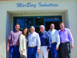 The Borgatello family stands outside the family business, MarBorg Industries. From left to right, Brian Borgatello, Kathy Koeper, Mario Borgatello Jr., David Borgatello, Anthony Borgatello and son-in-law Derek Carlson.