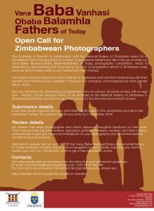 Fathers of Today - Call for Zimbabwean Photographers @ National Gallery of Zimbabwe