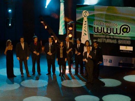 Foto Ganadores IV Premios Sociedad de la Información, Asturias.