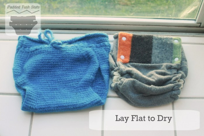 Washing wool cloth diapers tutorial - Lay flat to dry