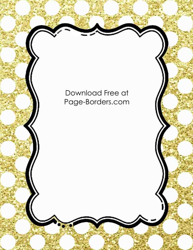 fullsize of gold glitter border large of gold glitter border