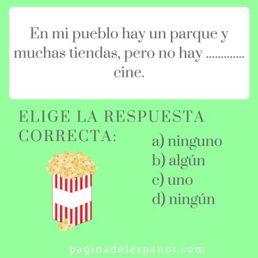 Adjetivos indefinidos en español