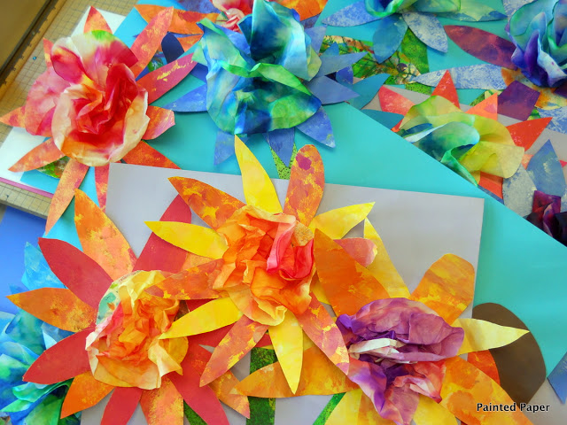 painted paper bouquets painted paper art
