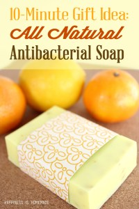 DIY All Natural Citrus Antibacterial Soap. www.paintedteacup.com