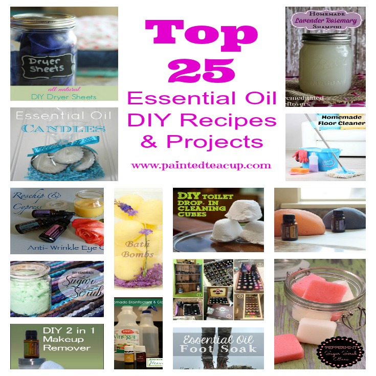 Top 25 Essential Oil DIY Recipes & Projects