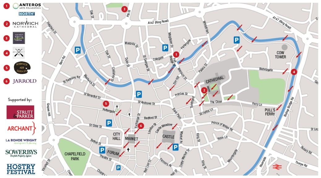 Paint Out Norwich 2016 Map