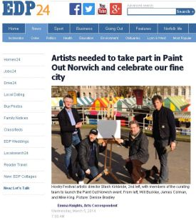 Artists needed to take part in Paint Out Norwich and celebrate our fine city, EDP, 5 March 2014