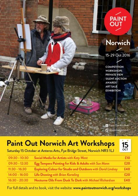Paint Out Norwich 2016 art workshops