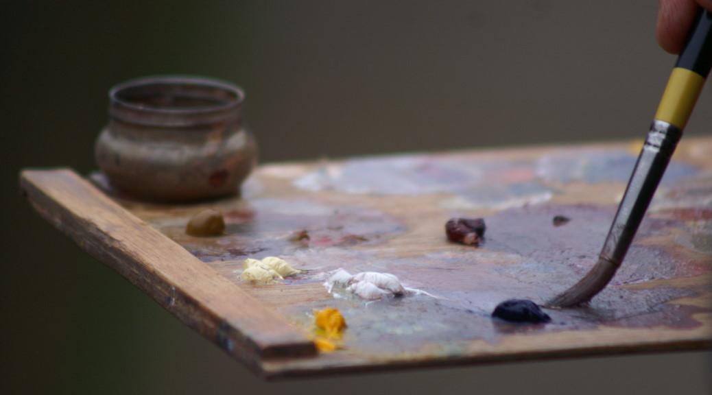 Artist's palette during PON15 at Fye Bridge Norwich