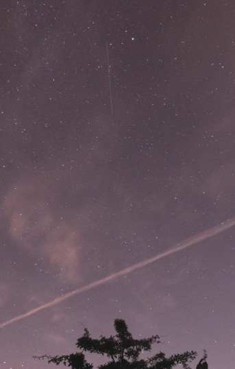 ISS a Satellite and Airplane in the sky altogether in one photo, taken from Glennifer Braes