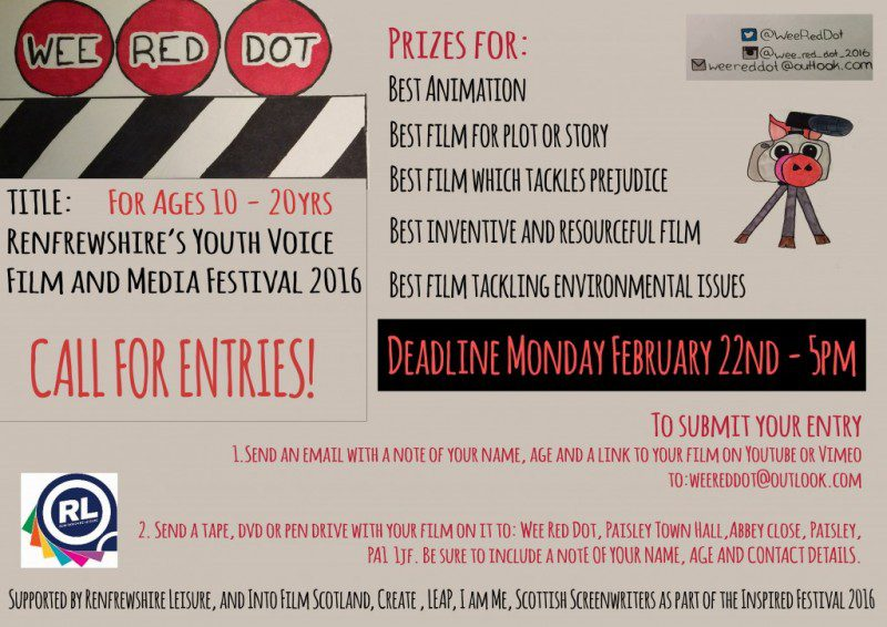Opportunity for budding filmakers... Wee Red Dot 2016