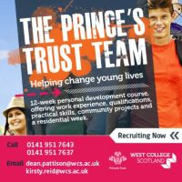 West College Scotland recruiting for Prince's trust team