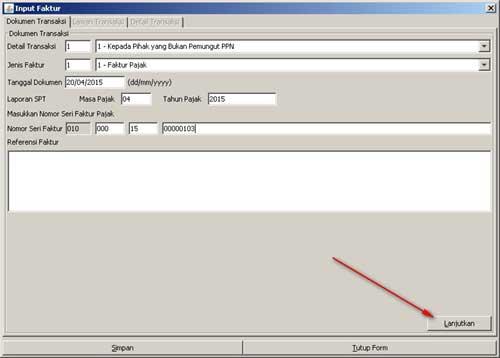 Program e-Faktur - Langkah Ke-1 Rekam Faktur Pajak