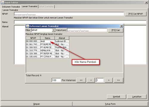 Program e-Faktur - Langkah Ke-4 Rekam Faktur Pajak