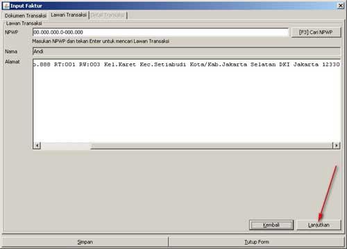 Program e-Faktur - Langkah Ke-5 Rekam Faktur Pajak