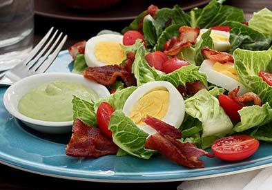 Paleo BLT Salad with Tangy Avocado Ranch Dressing Recipe