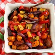 easy paleo recipe for veggies and sausage