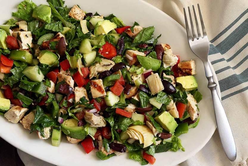 Paleo Greek Chopped Salad w/Chicken Recipe | Paleo Newbie