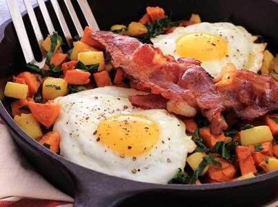 Yam, Apple & Kale Paleo Breakfast Side