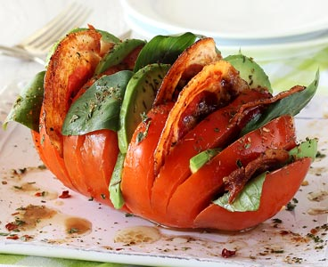 Paleo Hasselback Tomatoes with Pancetta Recipe