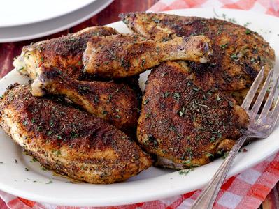 Paleo Herb and Spice Crispy Chicken Bake