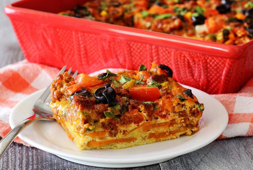 simple paleo breakfast recipe for spicy mexican egg bake