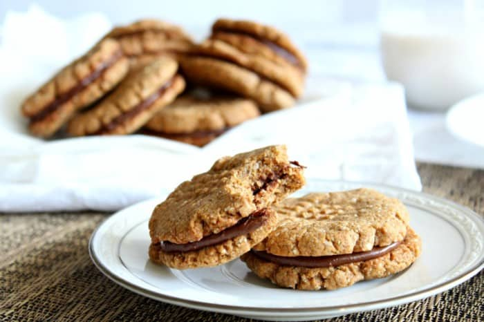 happens to be paleo! These Almond Butter Chocolate Sandwich Cookies ...