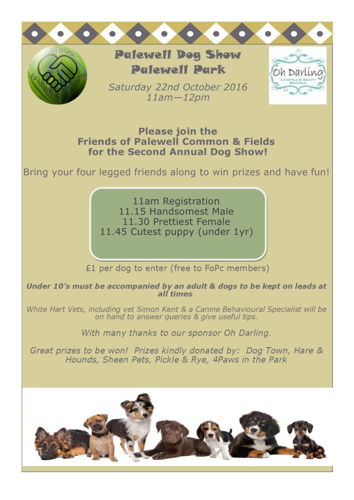 The Friends of Palewell Common & Fields Dog Show