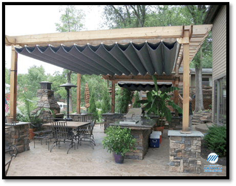 ... Pergola With Canopy Woodworking DIY Project – Free Woodworking Plans