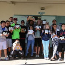 Middle school kids in Palo Alto with Pokettis. Photo by Poketti.