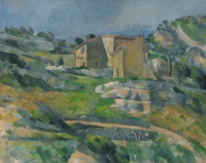 Paul Cézanne (French, 1839 - 1906 ), Houses in Provence: The Riaux Valley near L'Estaque, c. 1883, oil on canvas, Collection of Mr. and Mrs. Paul Mellon