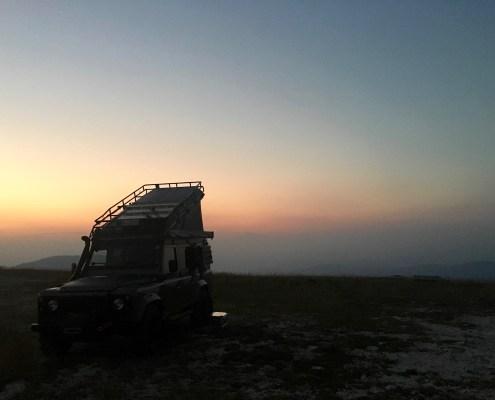 Sonnenuntergang auf dem Monte Lisser