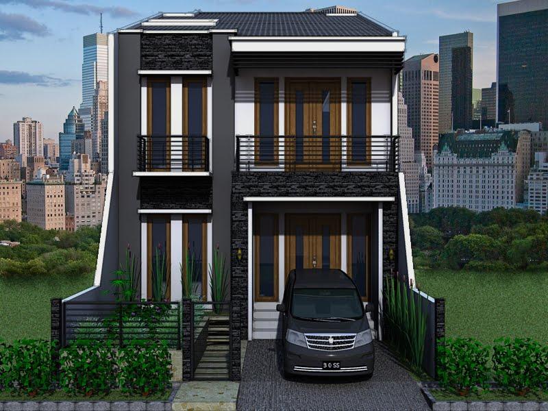 gambar rumah tingkat minimalis tampak depan desain