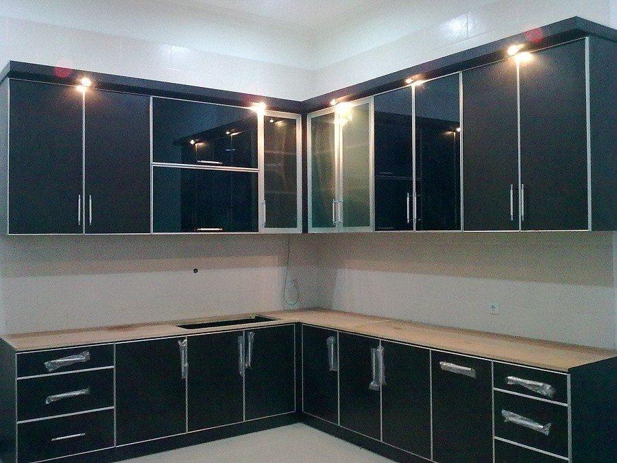 berrumah minimalis 1 set lemari dapur